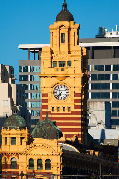 Flinders street train station clock tower