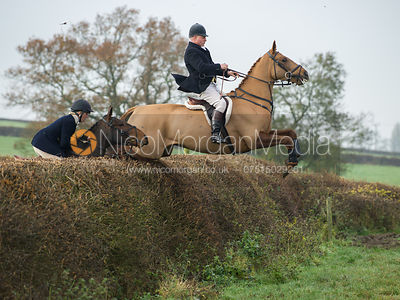 David Mee jumping a big hedge