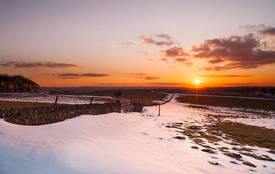 Winter sunset at Bretton