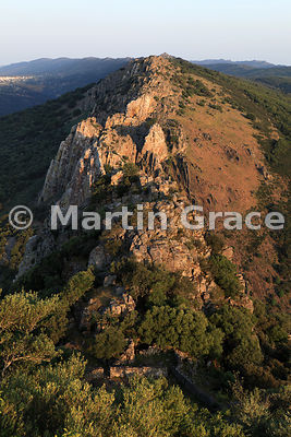 Penafalcon (Falcon's Rock) from Monfrague Castle, Monfrague National Park, Extremadura, Spain