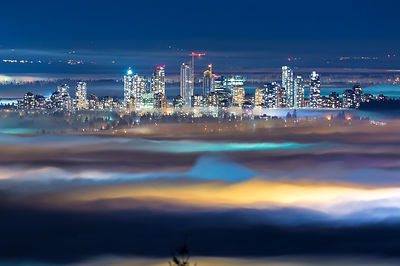 Metrotown in Evening Fog