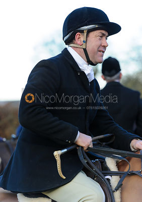Martin Willcox at the meet - The Belvoir Hunt at Waltham House