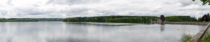 Mohnesee very wide panorama