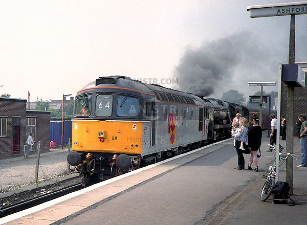 Diesel loco 33211 and 34027  Ashford