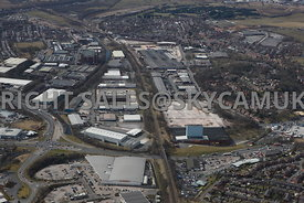Rochdale high level aerial photograph of the Royal Pennine Industrial Estates