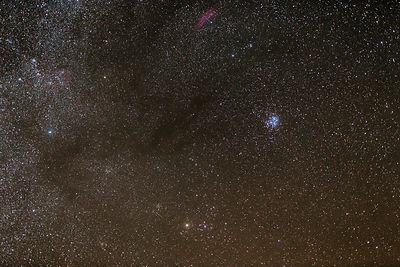 California Nebula and Pleiades in the constellations of Taurus and Perseus.