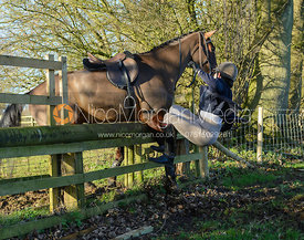 jumping a hunt jump in Pickwell