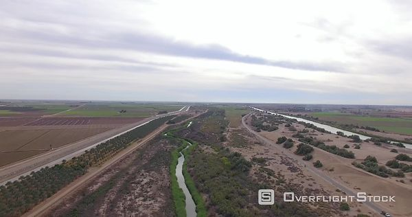 Drone Video Yuma County Arizona US Mexico Border