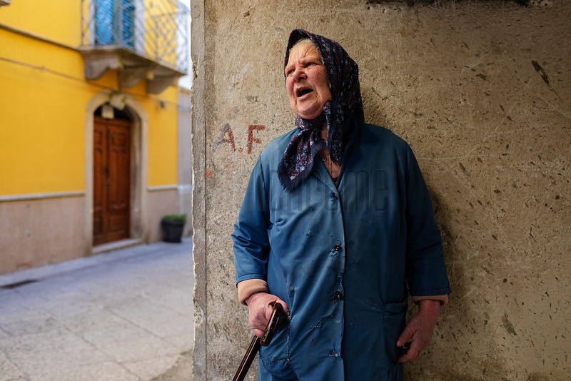 Portrait of an Elderly Woman in Novara di Sicilia