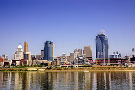 Cincinnati Skyline Riverfront Downtown Office Buildings