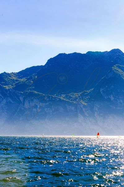 Wind Surfing in Riva Del Garda