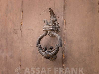 Antique door knocker, Mdina, Malta