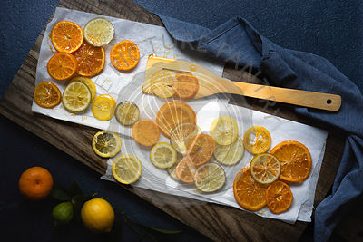 Slices of candied orange