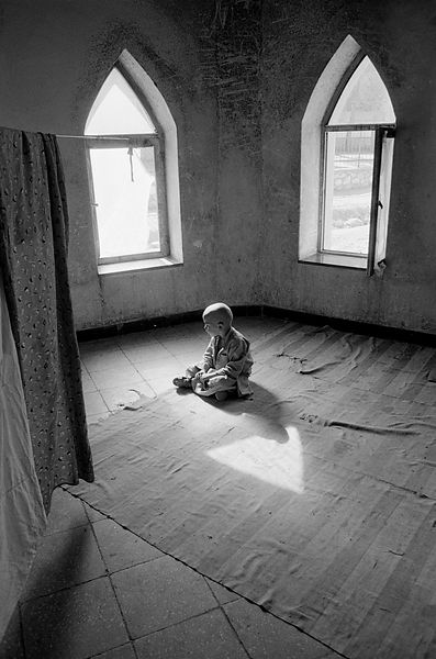 Child in a mosque, Kabul