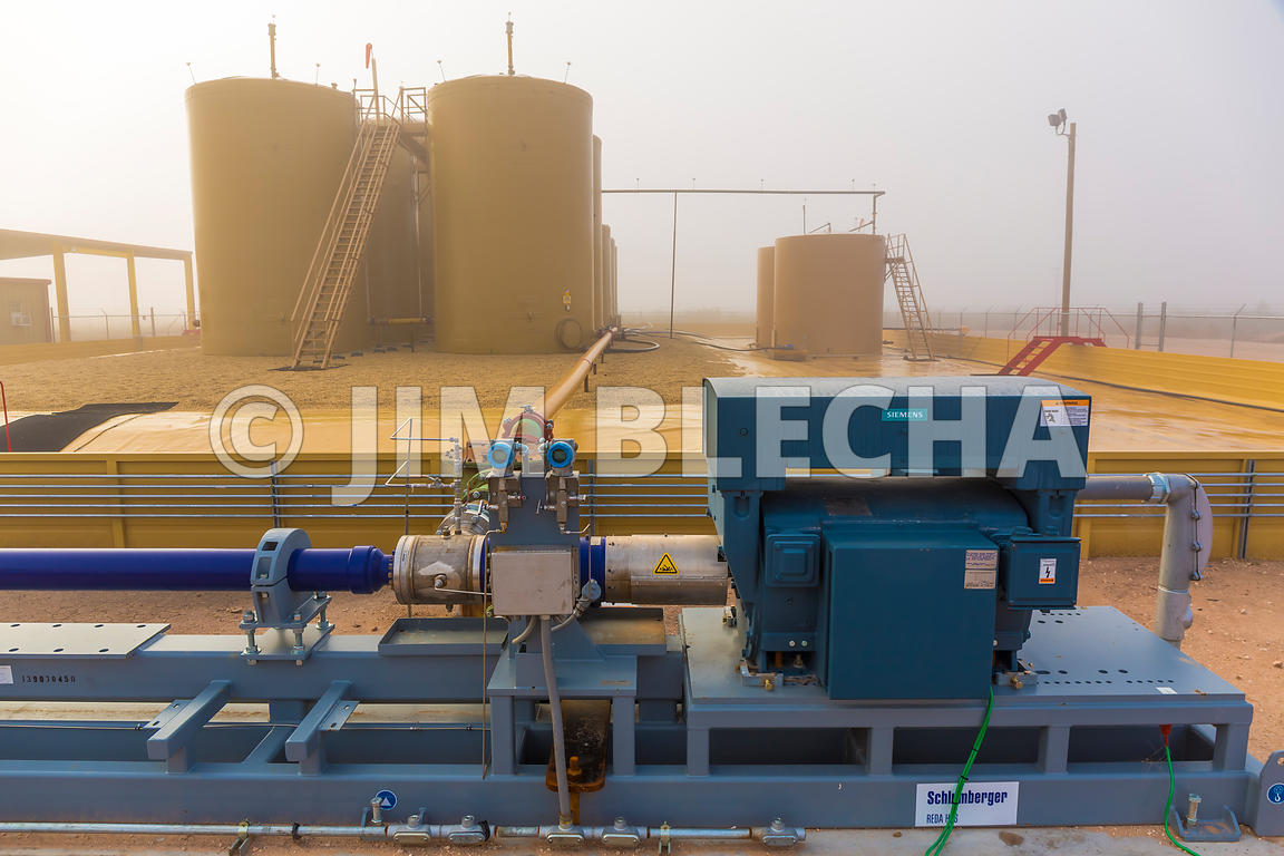 Oil and Gas Stock Photography | Siemens Wastewater Injection Pump