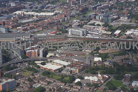 Downing Street Industrial Estate Ardwick Green looking towards Piccadilly Railway Station Manchester
