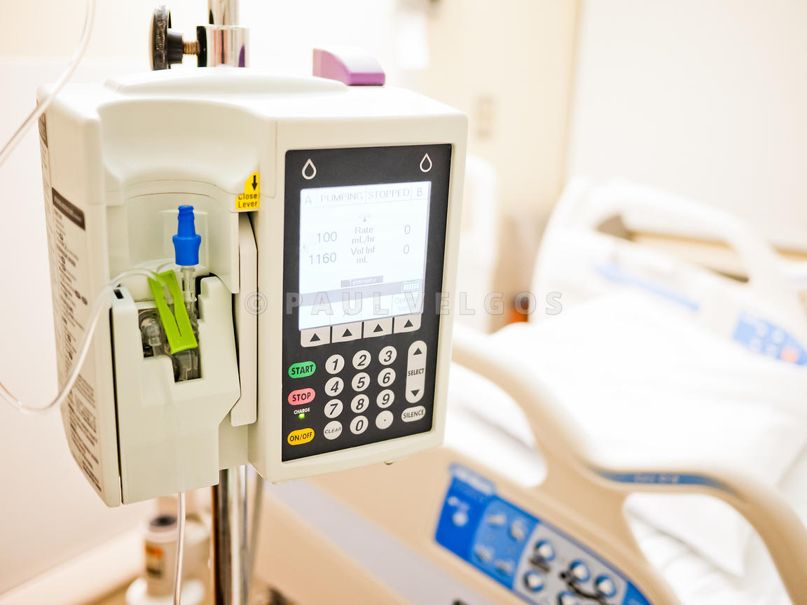 Infusion Pump in Hospital Room