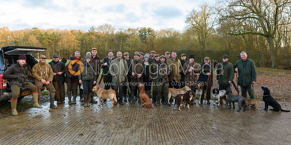 End of day group shot, guns and beaters - Barnwell Shoot