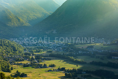 Saint Lary Soulan ski village and mountains at summer, France