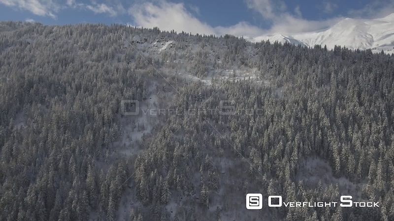 Snow covered Valley of the Village of Les Contamines in France