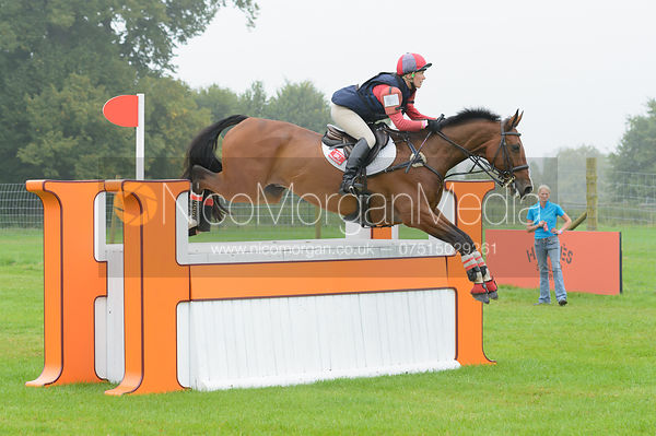 Louisa Lockwood and BALLYFARRIS FLIGHT - cross country phase,  Land Rover Burghley Horse Trials, 6th September 2014.