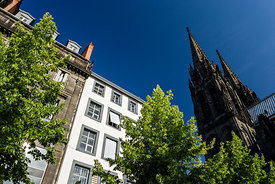 Cathedral of Clermont ferrand from Place de la Victoire