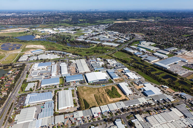 Rowville with CBD in background, Stud Road and Eastlink in view Victoria Australia