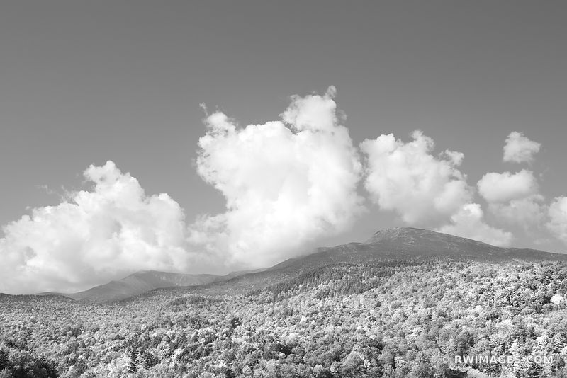 MOUNT WASHINGTON WHITE MOUNTAINS NEW HAMPSHIRE BLACK AND WHITE
