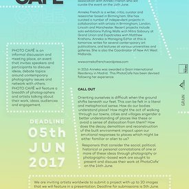 PhotoCafe Talk - Call Out - Deadline June 5th