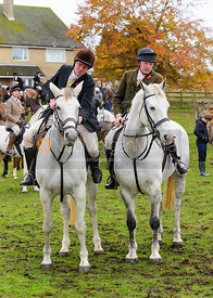 Supporters at the meet - The Cottesmore Hunt at Tilton on the Hill, 9-11-13