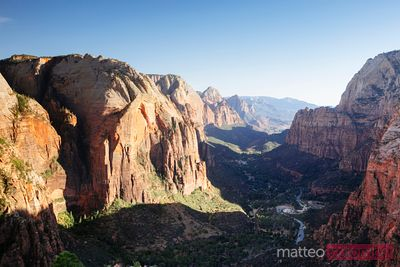 Beautiful Zion valley, Utah, USA