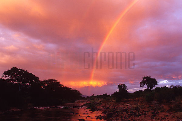 Sunset over the Mara River