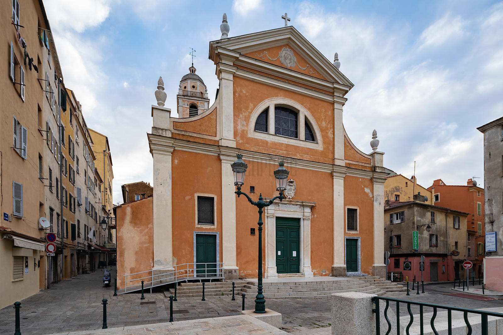 The Venetian Rennaissance Facade of the Ajaccio Cathedral