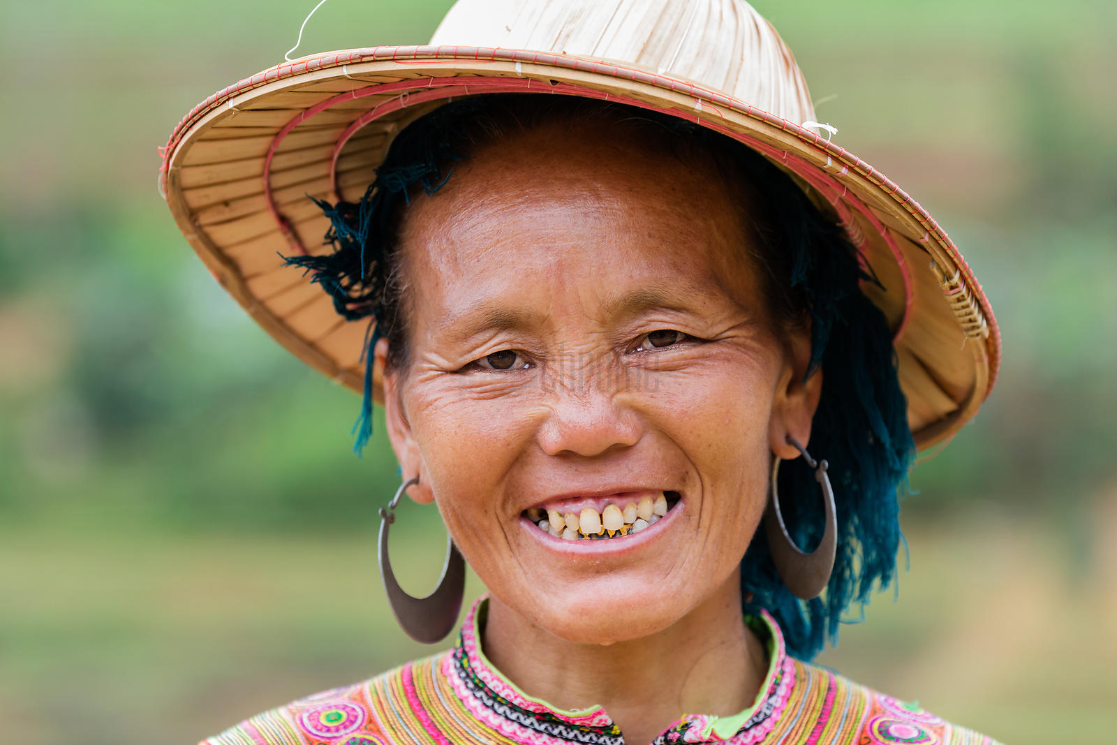 Portrait of Flower Hmong Woman