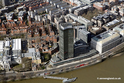 aerial photograph of Millbank Tower, 30 Millbank, London SW1P 4RS. In the photo can be seen Marsham St, London SW1P 4DF  and ...
