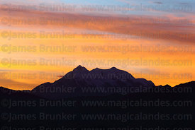 Mt Illimani at sunrise, Cordillera Real , Bolivia