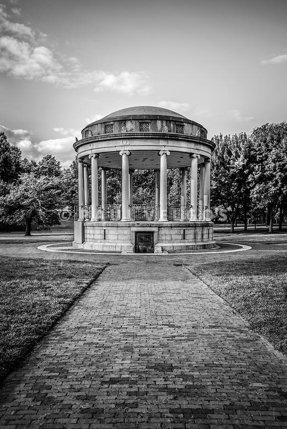 Parkman Bandstand Boston Common Black and White Photo