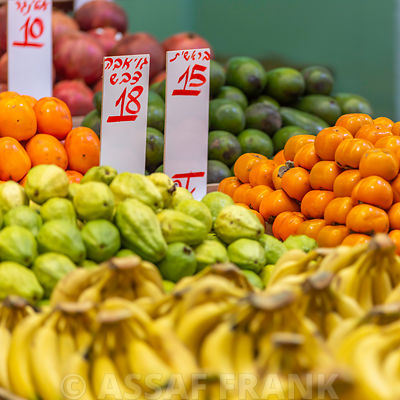 Fruits and vegetable market stall