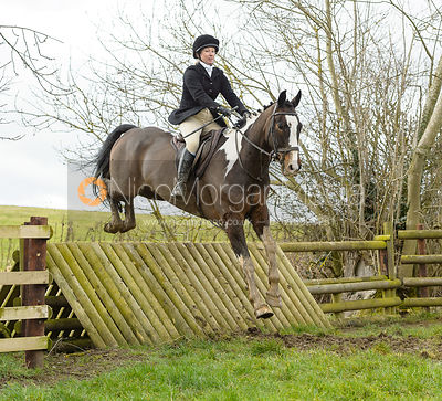 jumping a fence at Peake's Covert
