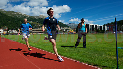 Athletische Hoehen-Trainingsanlage in St.Moritz
