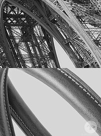 Details of the Eiffel Tower, Paris, for Mulberry