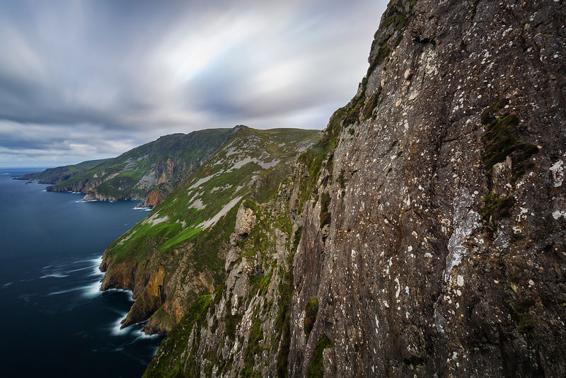 Elevated View of the Slieve League Cliffs at Dawn