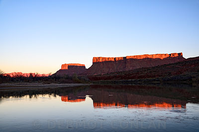 Red Cliffs Reflect in Colorado River, Moab