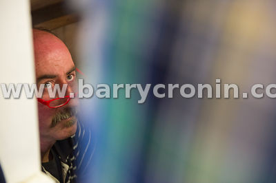 11th September, 2014.Camera at the Ringside - Kingscourt, County Cavan. Pictured is seller Paul Kane from Ardee, County Louth...