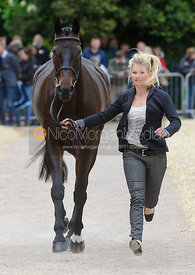 Jonelle Price and THE DEPUTY - First Horse Inspection, Mitsubishi Motors Badminton Horse Trials 2014