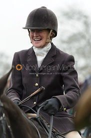 Lady Sarah McCorquodale at the meet - The South Shropshire and Belvoir Hunts at Belvoir Castle 11/3/17