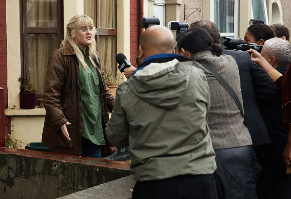 Kiri, with Sarah Lancashire, unit photography