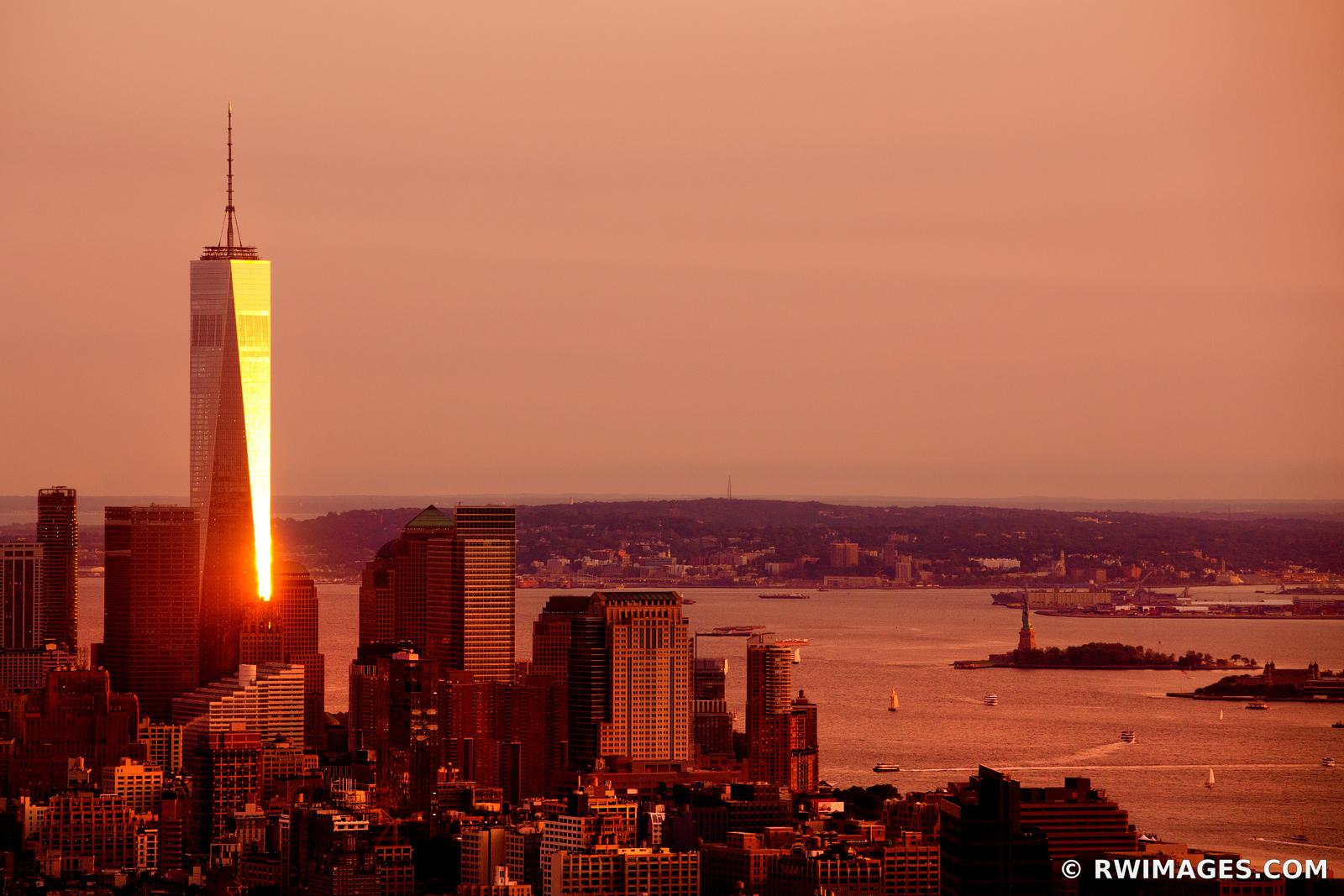 FREEDOM TOWER SUNSET MANHATTAN NEW YORK CITY COLOR