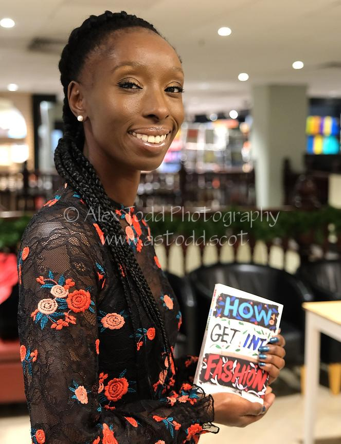 "Supermodel, DJ and presenter Eunice Olumide OBE launches her new book ""How To Get Into Fashion"" at Waterstones in her home ci..."