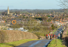 The Cottesmore hounds climb Brooke Hill after the Boxing Day meet